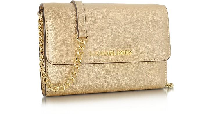8cfdf0d32d17 new zealand michael kors gold metallic purse best image ccdbb a2ad3 adfea   czech twitter pinterest share on tumblr. metallic saffiano leather jet set  travel ...