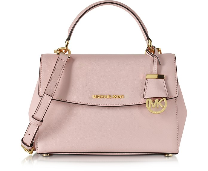 michael kors ava kleine tasche aus saffianleder in blossom pink forzieri. Black Bedroom Furniture Sets. Home Design Ideas
