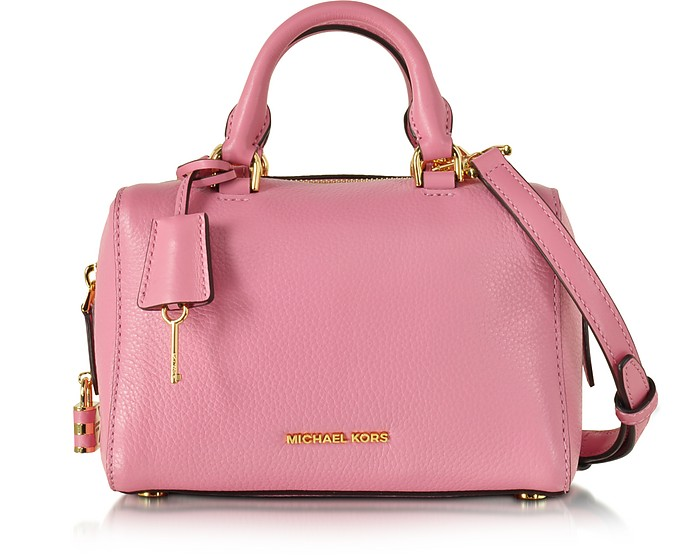 e443efdb5834 Michael Kors Kirby Misty Rose XS Leather Satchel Bag at FORZIERI