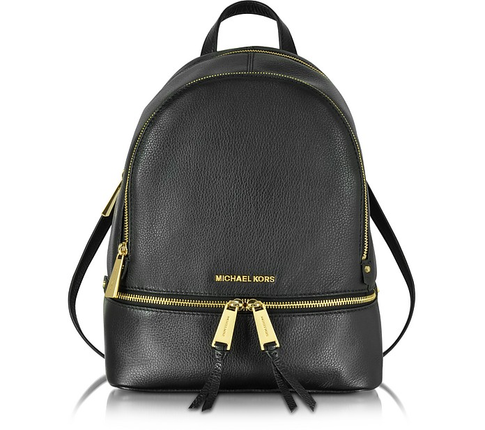 60181b70a11e Michael Kors Rhea Zip Black Medium Backpack at FORZIERI Canada