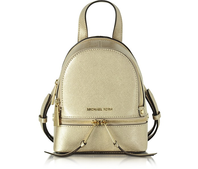 aae703a9bfdb67 ... best price rhea zip pale gold xs messenger backpack michael kors 75f6f  2a178