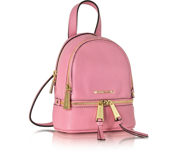 b2937cfaad28 Rhea Zip Misty Rose Leather Extra Small Messenger Backpack - Michael Kors.  $228.00 Actual transaction amount