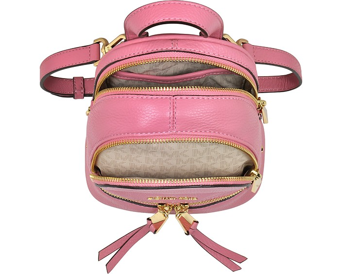 3ef8290989d7 Rhea Zip Misty Rose Leather Extra Small Messenger Backpack - Michael Kors.   228.00 Actual transaction amount