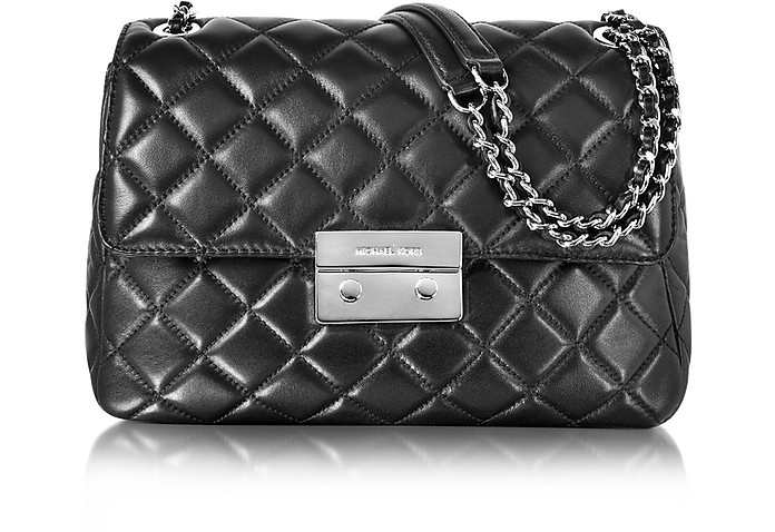469e1448d48cc Michael Kors Sloan Large Quilted-Leather Chain Shoulder Bag at FORZIERI