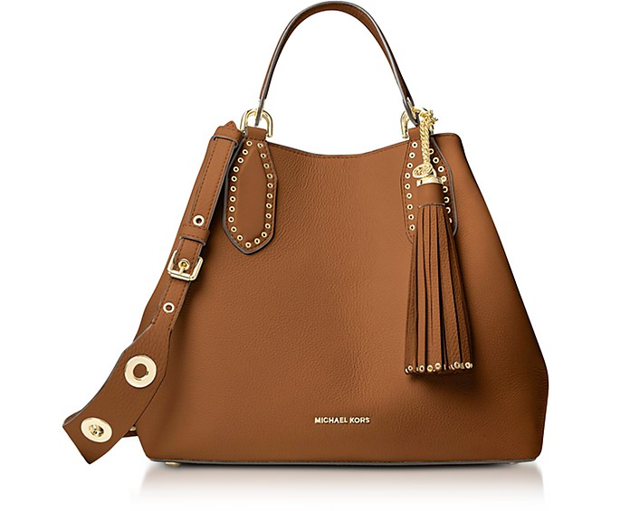 Brooklyn Large Luggage Pebbled Leather Tote
