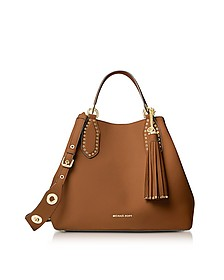 Brooklyn Large Luggage Pebbled Leather Tote - Michael Kors