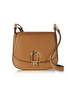 Delfina Large Acorn Leather Saddle Bag - Michael Kors