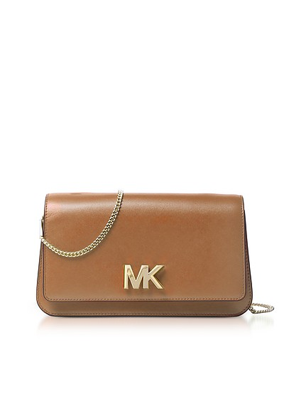 Mott Large Acorn Leather Clutch - Michael Kors