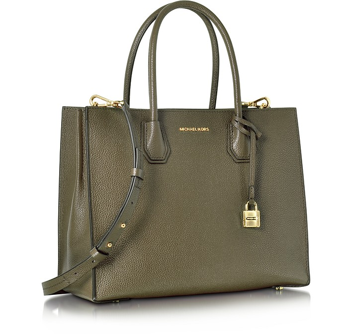 89ae5fc84dbf ... canada green bonded leather tote michael kors. sold out d3540 011b3
