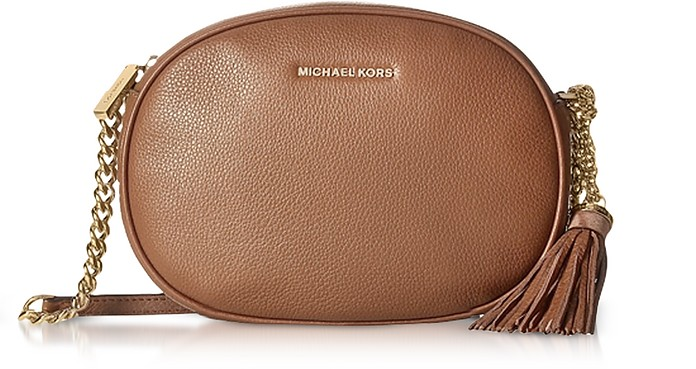 Ginny Luggage Pebble Leather Medium Messenger - Michael Kors