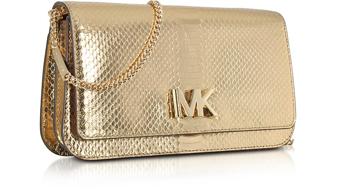 cbdc5a45912adc Mott Large Pale Gold Metallic Ayers Embossed Leather Clutch - Michael Kors.  $196.00 $280.00 Actual transaction amount
