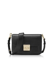 Sloan Editor Large Black Leather Shoulder Bag - Michael Kors