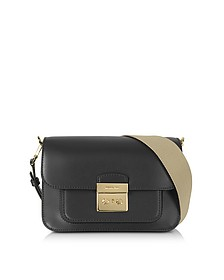 Sloan Editor Large Black Leather Shoulder Bag - Michael Kors
