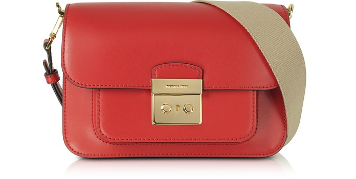 317833e9fe8d Michael Kors Sloan Editor Large Bright Red Leather Shoulder Bag at ...