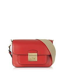 Sloan Editor Medium Borsa in Pelle Bright Red con Tracolla - Michael Kors