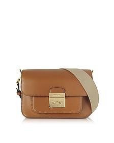 Sloan Editor Large Acorn Leather Shoulder Bag - Michael Kors