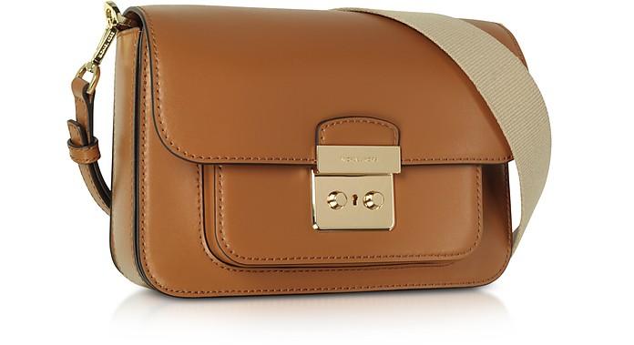 1bbdc27ae66321 Michael Kors Sloan Editor Large Acorn Leather Shoulder Bag at FORZIERI