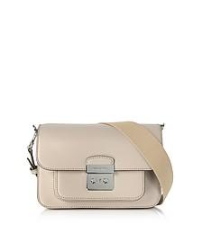 Sloan Editor Large Cement Leather Shoulder Bag - Michael Kors