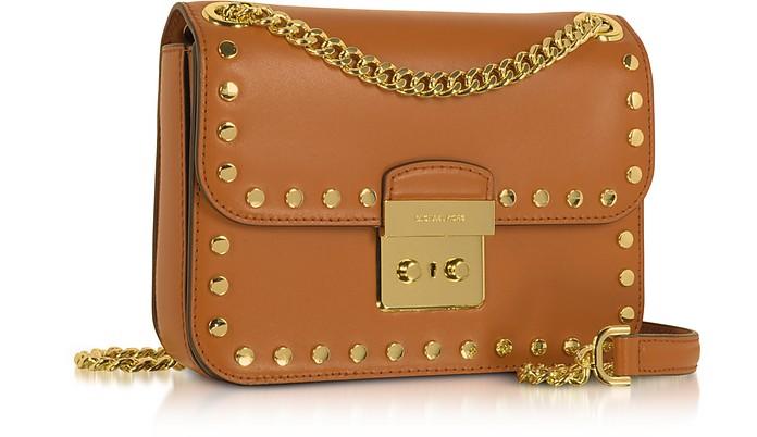 39fc1886d6fa64 Michael Kors Sloan Editor Medium Acorn Leather Chain Shoulder Bag at  FORZIERI Australia