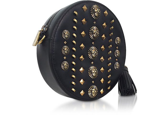 2f6b03325247 Michael Kors Black Studded Polished Leather Canteen Crossbody at ...