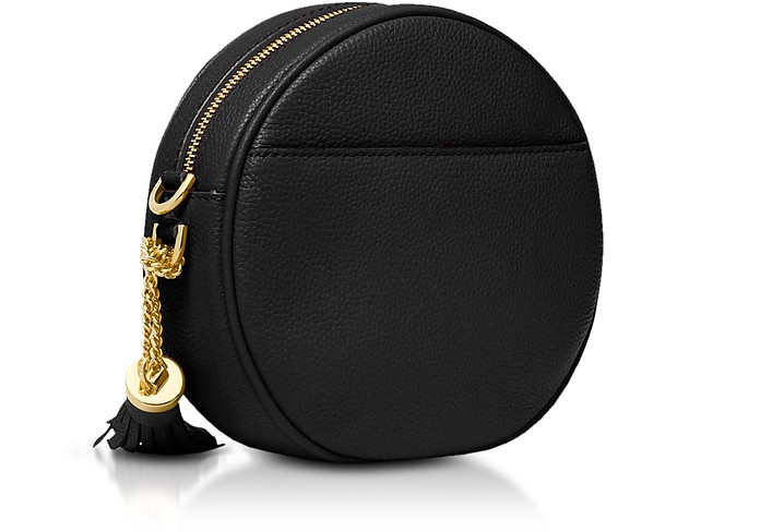 fa16765fc1a6d Michael Kors Black Pebbled Leather Canteen Crossbody at FORZIERI ...