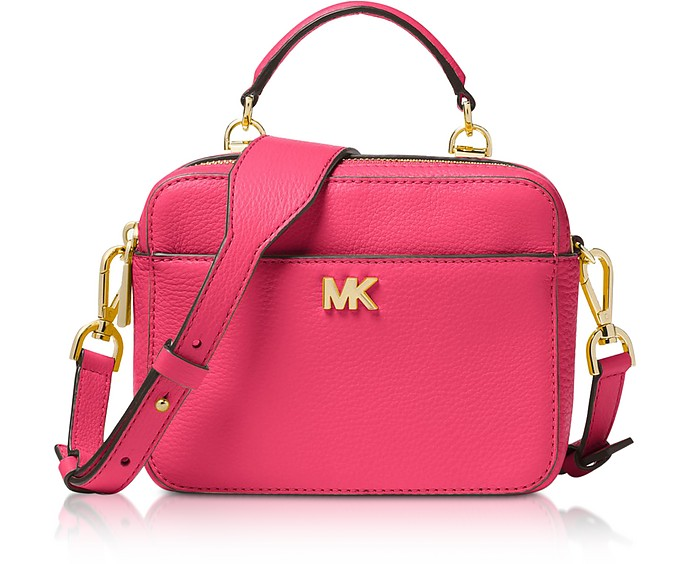 0e6b63d2aeae7a Michael Kors Rose Mott Mini Pebbled Leather Crossbody at FORZIERI UK