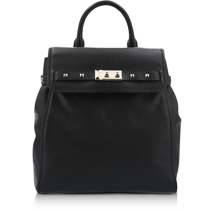 Black Pebbled Leather Addison Backpack - Michael Kors