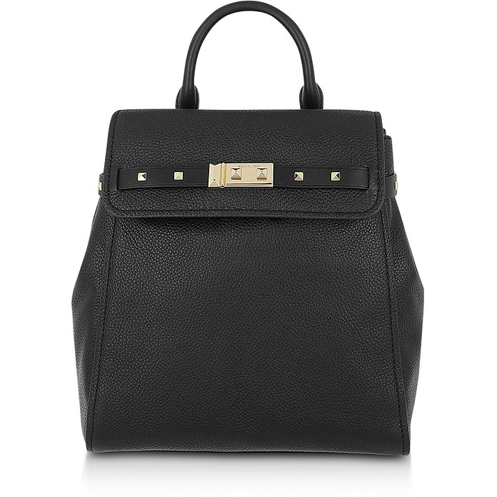 Black Pebbled Leather Addison Backpack - Michael Kors