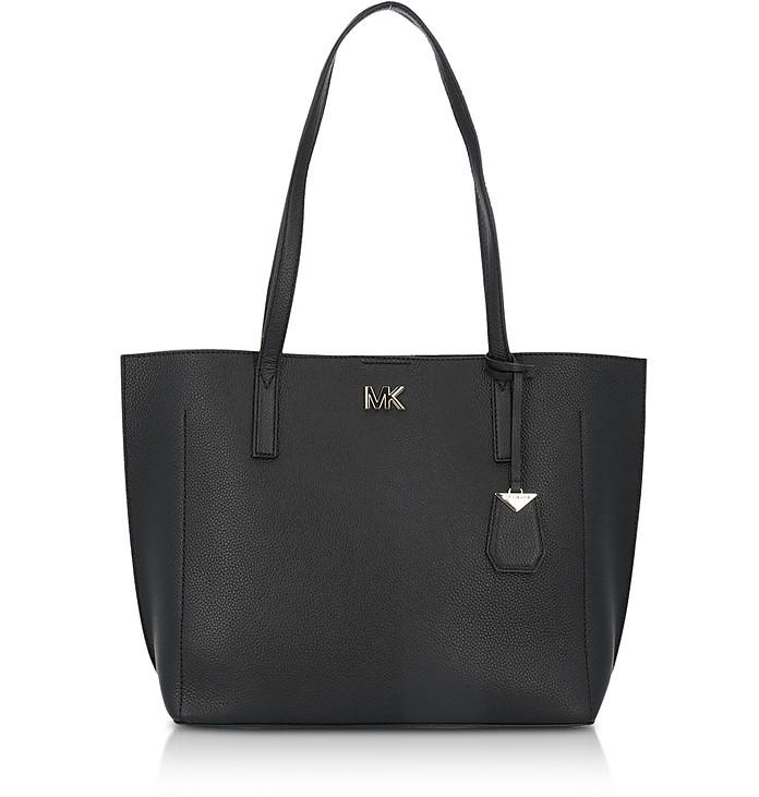 Pebbled Leather Ana Medium EW Bonded Tote Bag - Michael Kors