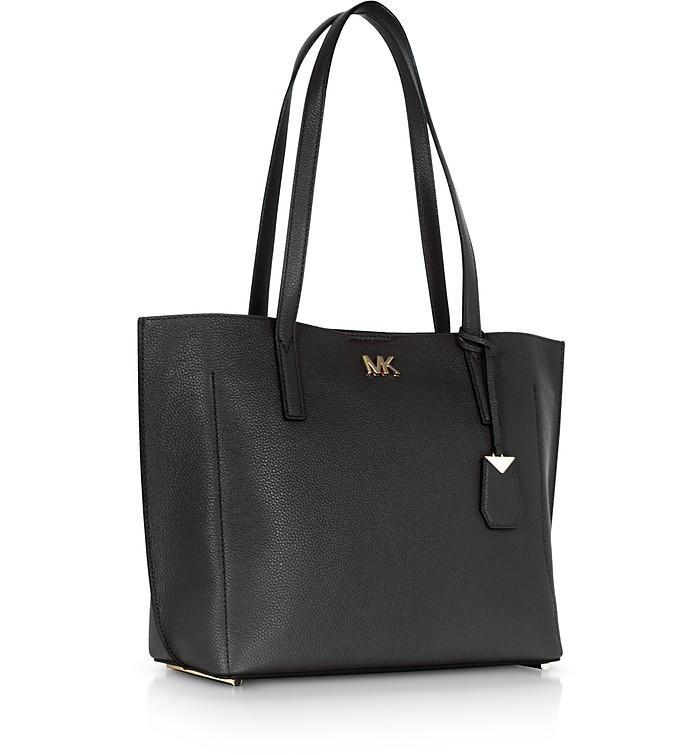 Ana EW Medium Shopping Bag in Pelle Nera