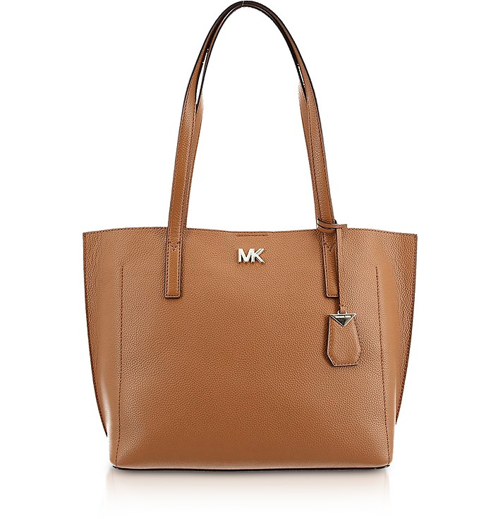 Pebbled Leather Ana Medium EW Bonded Tote Bag - Michael Kors