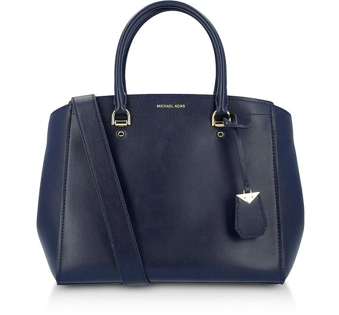 Soft Polished leather Benning Large Satchel Bag - Michael Kors