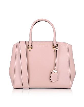 24e9c138c1 Soft Polished leather Benning Large Satchel Bag - Michael Kors