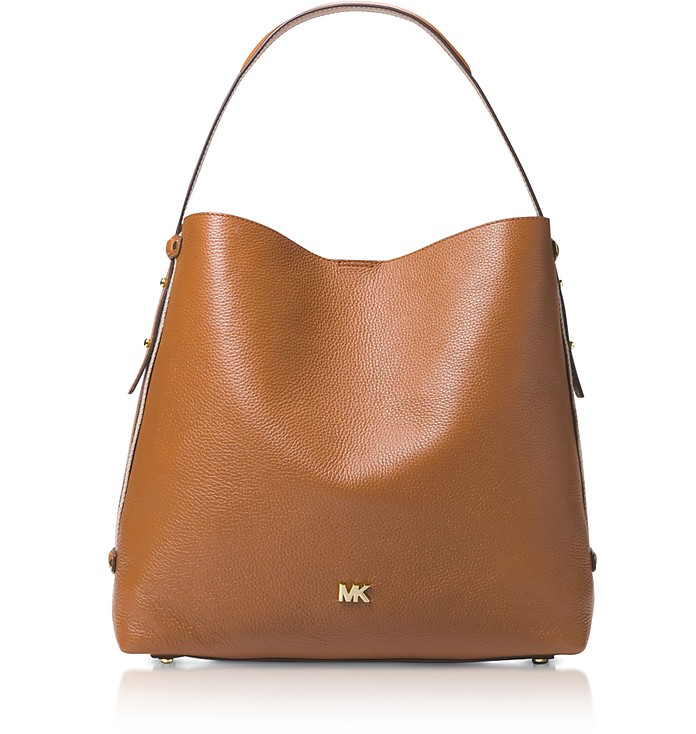 Griffin Large Leather Shoulder Bag - Michael Kors