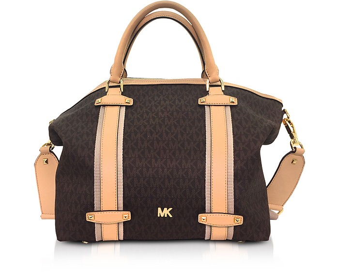 Burnt Signature Coated Twill Griffin Large Satchel - Michael Kors. Sold Out 6c9d5037b70