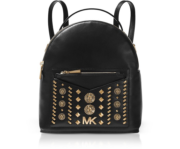 Jessa Small Embellished Leather Convertible Backpack - Michael Kors
