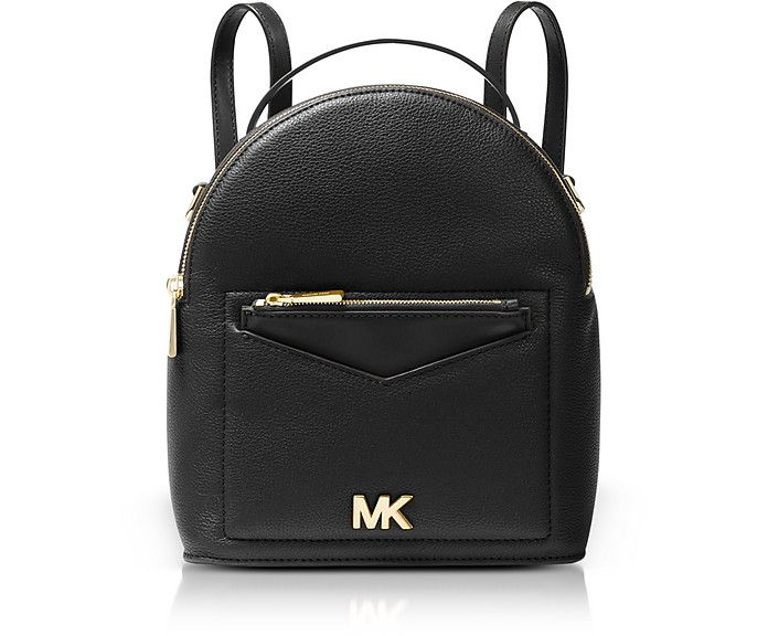 a089bed73ad9 Michael Kors Black Jessa Small Pebbled Leather Convertible Backpack ...