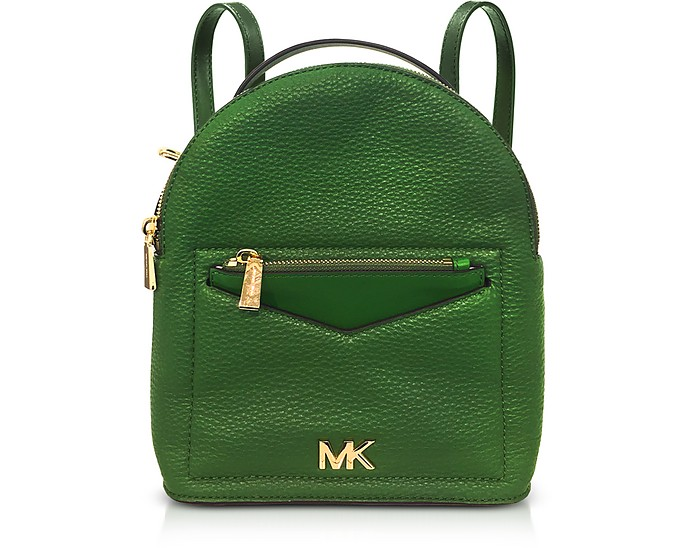 f077c84bb90b Michael Kors Bright Green Jessa Small Pebbled Leather Convertible ...