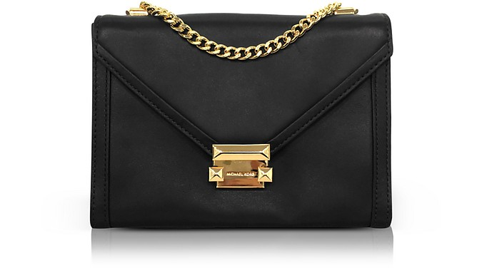 e558e65865e Michael Kors Whitney Large Leather Convertible Shoulder Bag In Black