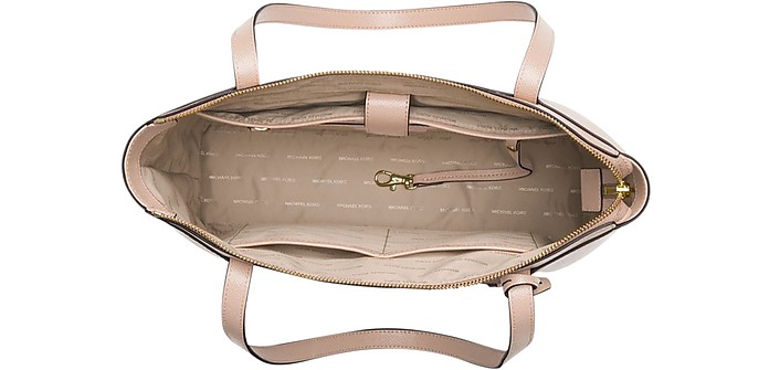 08f9e28a68f3 Soft Pink Maddie Medium Crossgrain Leather Tote - Michael Kors. Sold Out