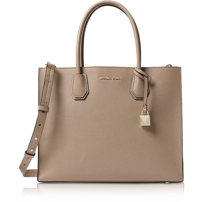 Truffle Mercer Large Leather Tote - Michael Kors
