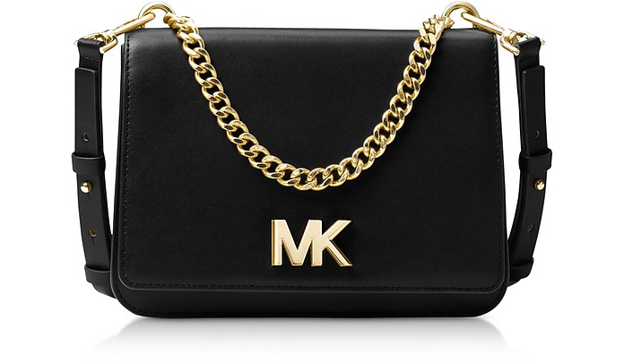 aad88ba143d7 Michael Kors Black Mott Leather Crossbody Bag at FORZIERI