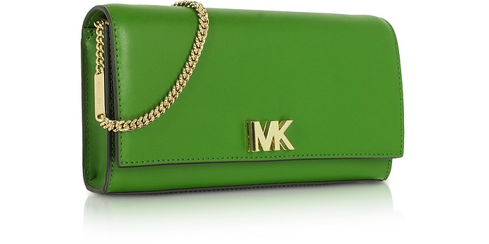 f9cb5c0b9132 Michael Kors Bright Green Mott Leather Chain Wallet at FORZIERI Australia