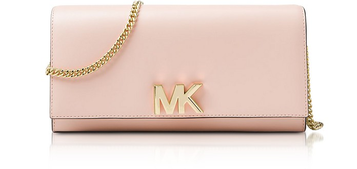 22f0a3532380 Michael Kors Pale Pink Mott Leather Chain Wallet at FORZIERI