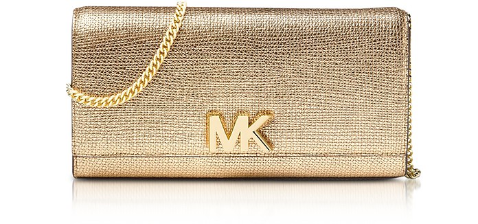 Mott Metallic Leather Chain Wallet - Michael Kors