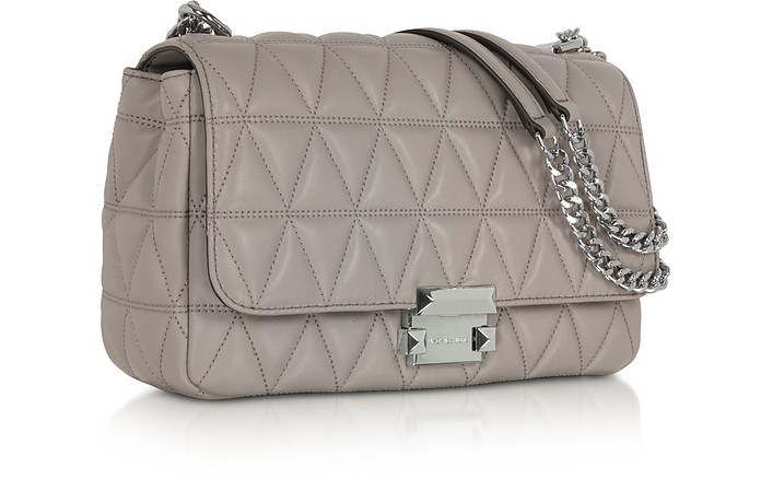 michael kors pearl sloan large quilted leather shoulder bag at rh uk forzieri com michael kors sloan large quilted-leather shoulder bag michael kors sloan studded leather shoulder bag