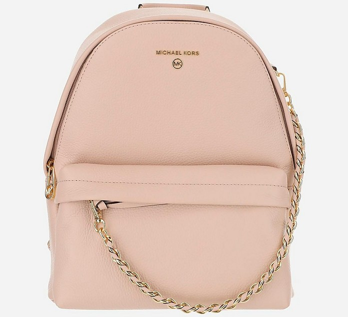 Pink Saffiano Leather Backpack - Michael Kors
