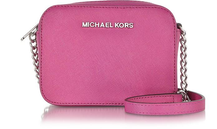 11500f89579808 Deep Pink Jet Set Travel Crossbody bag - Michael Kors. $128.00 Actual  transaction amount
