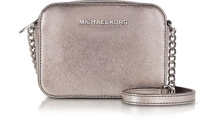 Nickel Jet Set Travel Crossbody Bag - Michael Kors