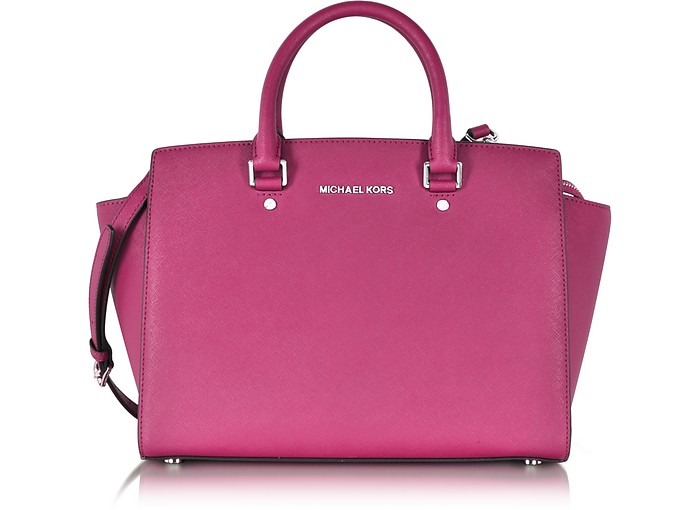 Selma Large Saffiano Leather Satchel - Michael Kors